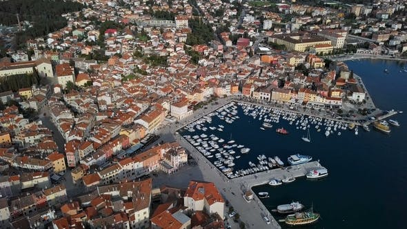 Thumbnail for Top Aerial View of Rovinj, Croatia