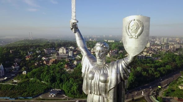 Thumbnail for Drone Video of Mother Motherland Monument in Kiev, Ukraine
