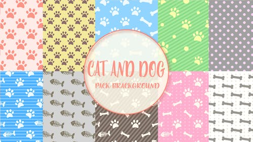 Pattern Cat And Dog