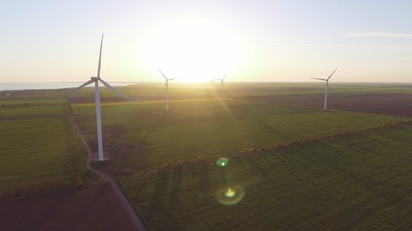 Thumbnail for Aerial View of Wind Power Generators in Ukraine