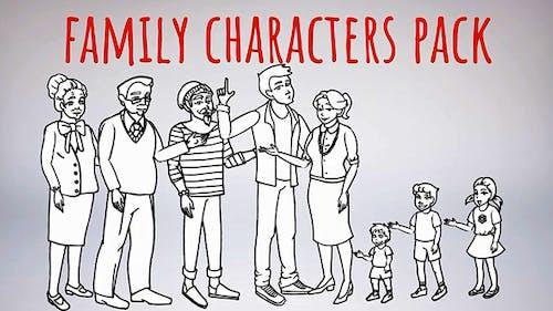 Whiteboard-Characters-Family-Whiteboard