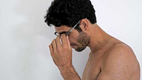 Dude Posing in Glasses