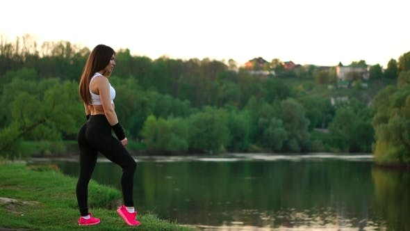 Thumbnail for Young and Beautiful Woman during Break in Her Fitness Workout