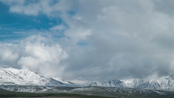 Thumbnail for Clouds Over the Highest Peaks of Tian Shan Mountains in Kazakhstan.
