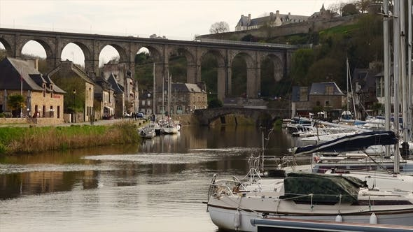 View of the Port of Dinan
