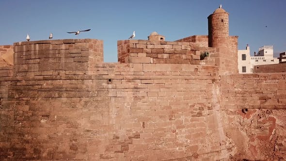 Thumbnail for Flying over Medieval Essaouira Fort in Morocco