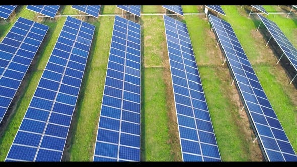 Thumbnail for Aerial View of Solar Energy Panels, Solar Panels, Solar Power Plants