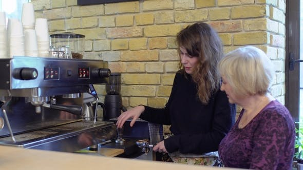 Thumbnail for Barista Teach Granny To Use Portafilter and Coffee Machine