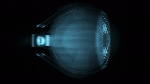 Art radiographique abstrait 4K d'un œil