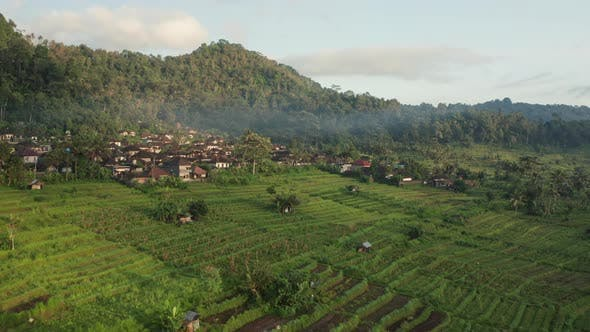 Thumbnail for Drone Over Village And Agriculture