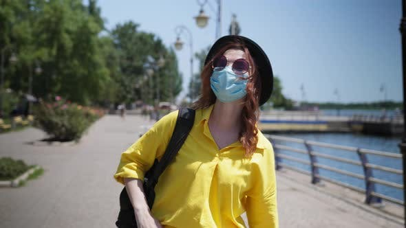 Thumbnail for Lifestyle, Young Woman Wearing Glasses and Medical Mask To Protect Against Virus and Infection