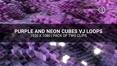 Purple And Neon Cubes