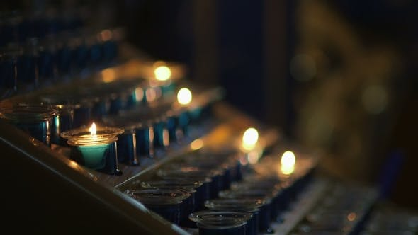 Thumbnail for Lit Candles In Church
