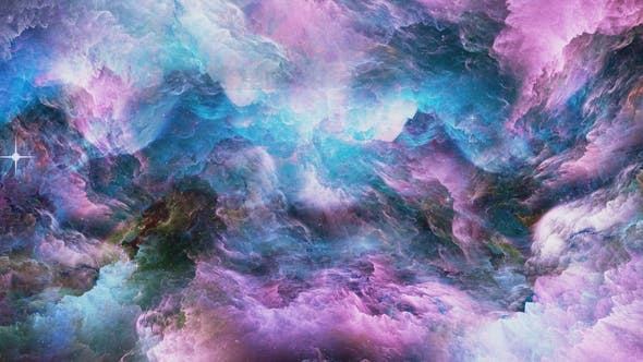 Thumbnail for Flying in a Colorful Space Abstraction