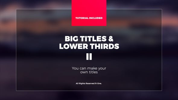 Thumbnail for Big Titles & Lower Thirds II