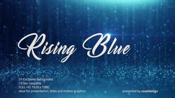 Thumbnail for Rising Blue Particles Background