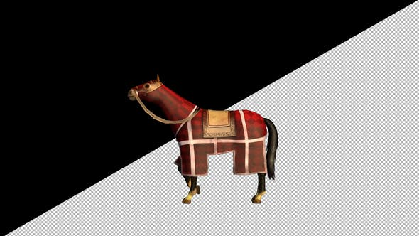 Thumbnail for Medieval War Horse Resting