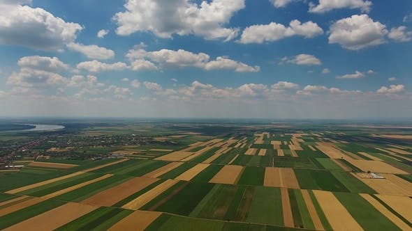Thumbnail for Aerial View of Agriculture Fields in Serbia