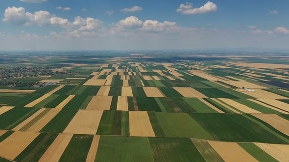 Thumbnail for Aerial Landscape Multicolor Agriculture Fields