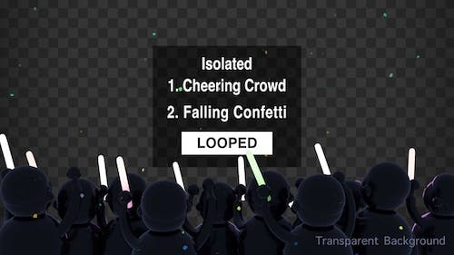 Isolated Cheering Crowd Object