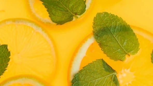 Thumbnail for View of Fresh Lemonade with Mint and Oranges
