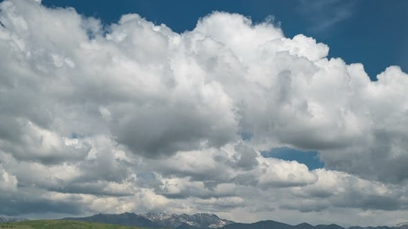 Thumbnail for Storm Clouds in the Mountains in Kazakhstan