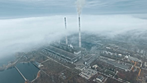 Thumbnail for Aerial Of A Coal Power Station