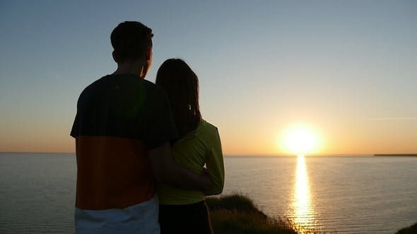 Thumbnail for Romantic Boy and His Girl Stand on the Black Sea Coast