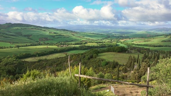 Thumbnail for Tuscany Landscape with Farmland Hill Fields