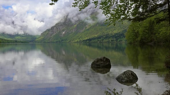 Thumbnail for Bohinjsko Jezero Between Mountains in Slovenia