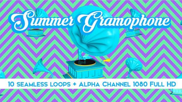Thumbnail for Summer Gramophone Vj Loops Pack