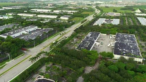 Aerial  Shot Of Miramar Parkway Florida Broward County Warehouse District