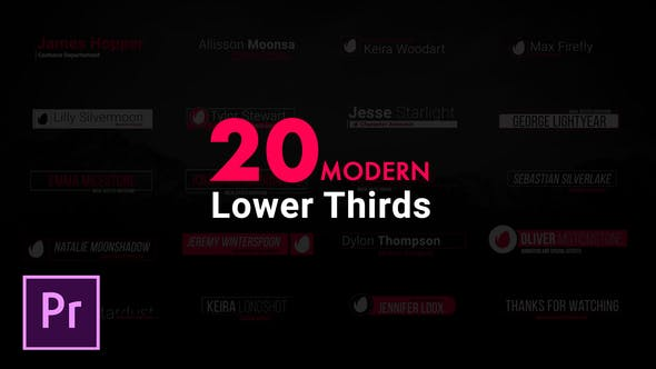 Thumbnail for Modern Lower Thirds For Premiere Pro
