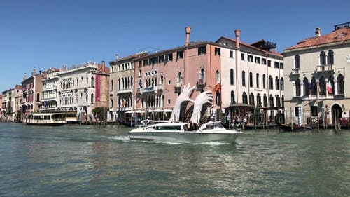 Big Hands and Boats on the Grand Canal in Venice V2