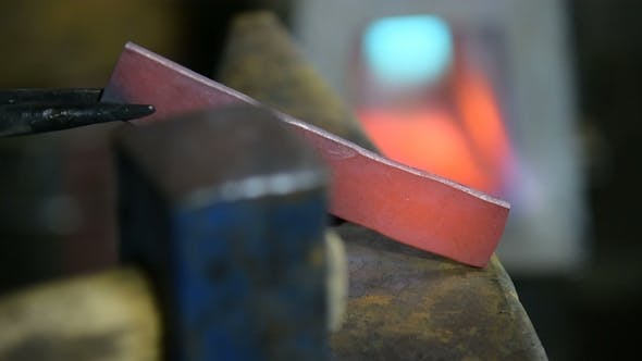 Forging a Knife in the Smithy