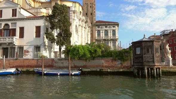 Thumbnail for View of Venice From Boat Sailing on Grand Canal