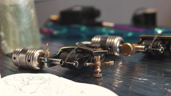 Thumbnail for Rotary Tattoo Machine Gun on the Table