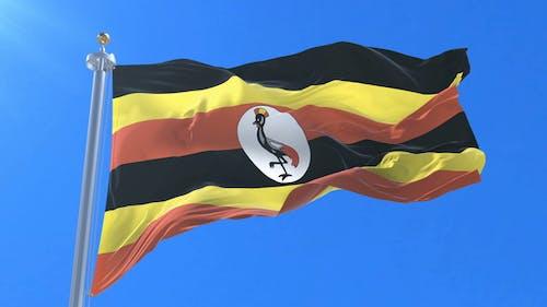 Flag of Uganda Waving