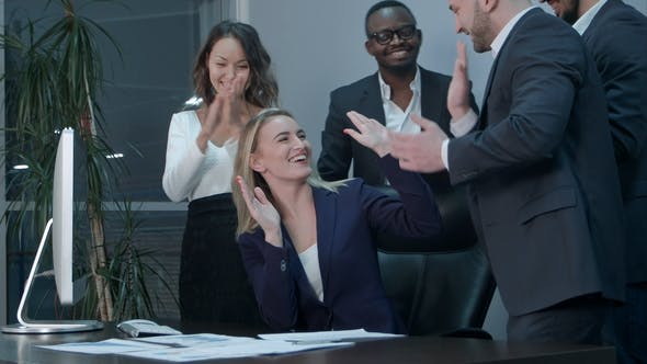 Thumbnail for Business Team Applauding During Meeting in the Office