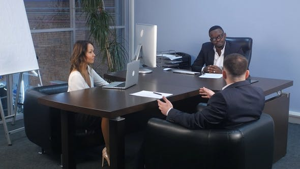 Thumbnail for Business Meeting in a Modern Office