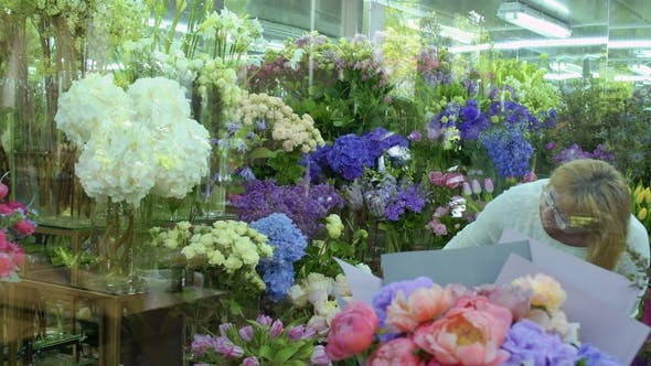 Thumbnail for Mature Woman Choose Flowers in Flower Shop