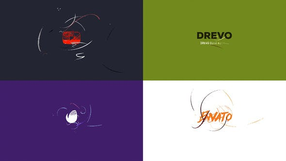 Simple Art Logo Reveal/ Flat Minimal Intro/ Brush Animation/ Clean Drawing Openers/ Youtube Blogger