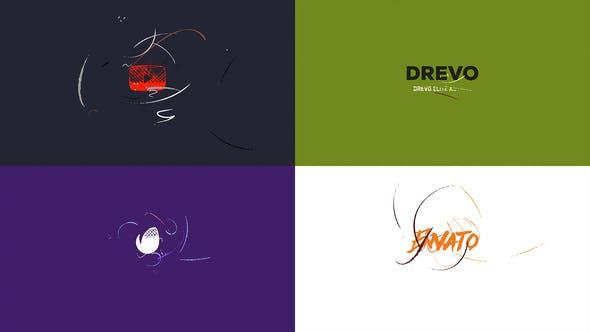 Simple Art Logo Réveal/ Plat Minimum Intro/ Brush Animation/ Nettoyer Dessin/ Youtube Blogger