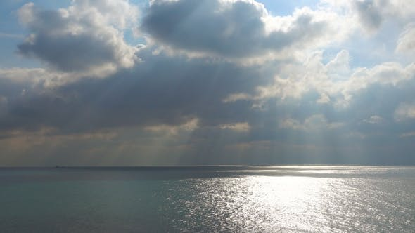 Thumbnail for Majestic Sky Over Cold Waters of the Northern Sea.