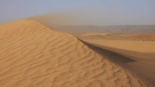 Thumbnail for Sand Blowing in Sand Dunes in Wind, Sahara Desert