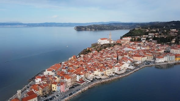 Thumbnail for Aerial View of Piran in Slovenia