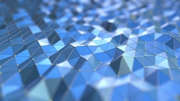 Thumbnail for Blue Polygonal Surface