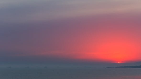 Thumbnail for Beautiful Sunset Over Sea Landscape