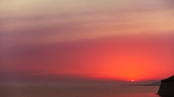 Thumbnail for Sunset over Beautiful Sea Landscape