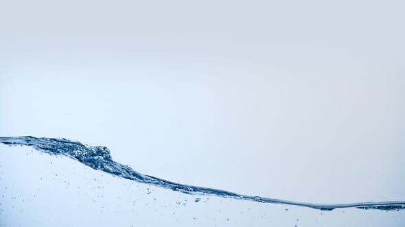 Thumbnail for Water Wave Surface. Clean Liquid Splashing Isolated on White Background